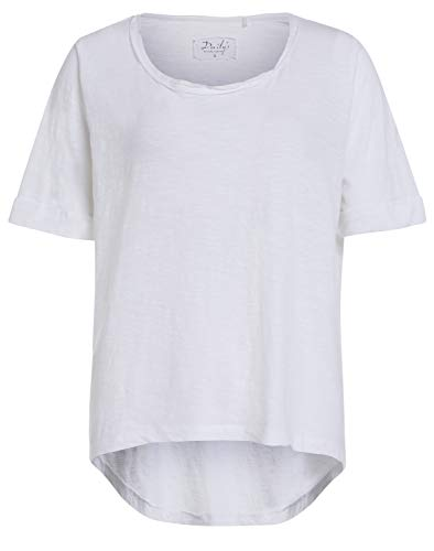 DAILY`S NOTHING`S BETTER BY S. W. B. Gladis: Damen T-Shirt mit Rundhalsausschnitt, Color:Smoke, Size:M