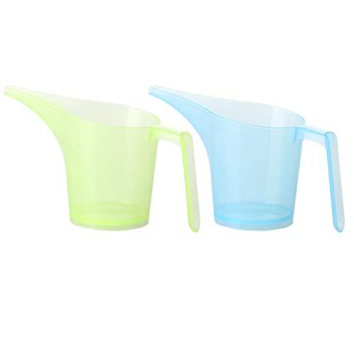 Hemoton - Juego de 2 vasos para medir embudo transparente con escamas para cocina, restaurante (color al azar)
