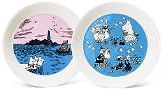 Moomin plate set Nightsailing & Peace 19cm 2pcs