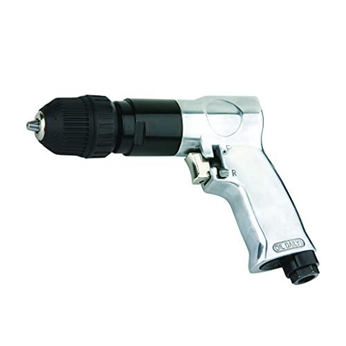 TALADRO NEUMATICO reversible automático 10 mm para compresor de AIRE COMPRIMIDO 1800RPM (incluye racor macho de 1/4')