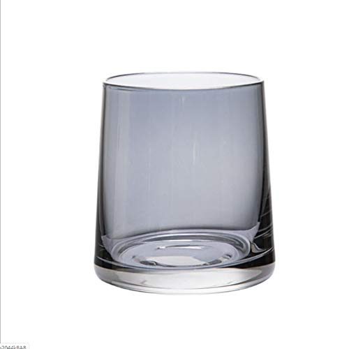 ZHFZD whiskyglas, bierglas, cocktailglas, creatief sapglas, hittebestendig, met ionenbad Size Grijs