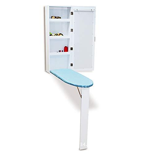 Hairong Wit/eenvoudig opvouwbare strijkplank & kastplaat opbergtafel voor strijkijzer