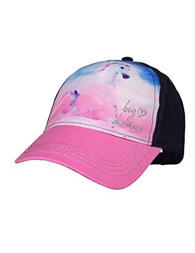 maximo Mädchen Cap Kappe, Mehrfarbig (Navy/Pink Rose 4864), (Herstellergröße: 55/57)