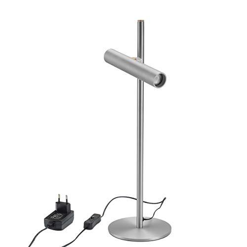 Lámpara de mesa LED infinitamente regulable, lámpara de noche, lámpara de oficina, Lámparas de escritorio, lámpara de lectura, operación táctil,pequeñas lámparas de pie, plata