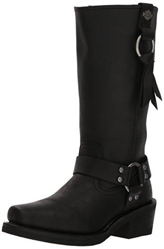 HARLEY-DAVIDSON FOOTWEAR Women's Fenmore Motorcycle Boot, Black, 9.5 Medium US