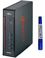 【Amazon.co.jp 限定】 富士通 超ミニ PC/ESPRIMO Q556/第6世代Core i5/ MS Office 2019/Win10/HDMI/WiFi/省スペース/静音/メモリ:8GB/Zeroウイルスセキュリティーソフト搭載 (整備済み品) SSD 256GB