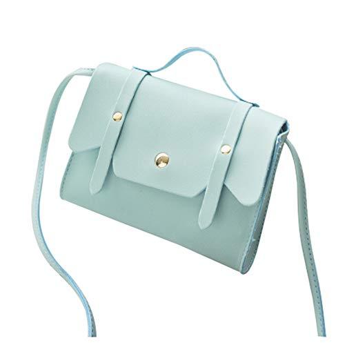 Ai-yixi Diseño clásico para mujer, mini bolso de hombro pequeño para diario, bolsa de mensajero, perfecto salvaje (color azul, tamaño: 17 x 12 x 4 cm)