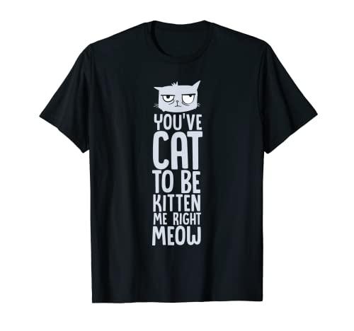 Divertido juego de palabras con gatos Tienes que ser gatito Camiseta