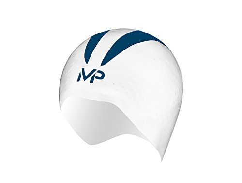MP Michael Phelps X-O, Cuffia da Piscina Unisex, White/Navy, L