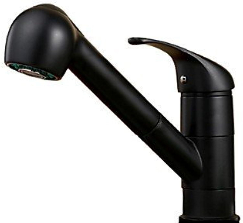 SEEKSUNG Bad Waschbecken Wasserhhne Art déco Retro Modern Mittellage Thermostatische Breite spary Handdusche inklusive Sensor Mit ausziehbarer Brause drehbarer, Gold-schwarz