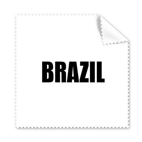 DIYthinker Brasilien Land Name Schwarz Brille Tuch Reinigungstuch Telefon Screen Cleaner 5Pcs Geschenk
