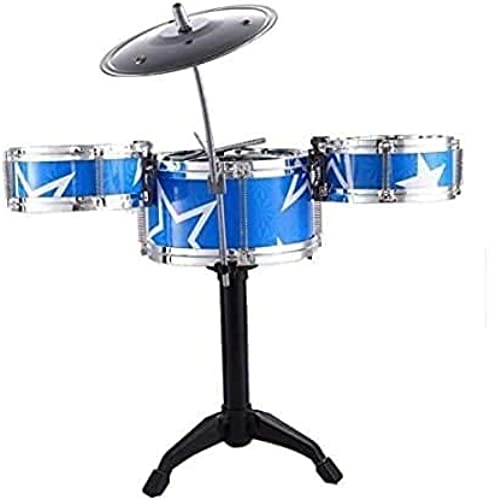 Jay Stationary Mini Jazz Drum Instruments Set Kit Musical Toy with High Straight PVC Material Drumhead for Kids Random Color