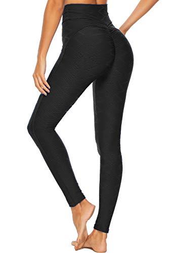 FITTOO Leggings Mallas Mujer Pantalones Deportivos Yoga Alta Cintura Elásticos y Transpirables1500#3 Azul Claro Extra Grande