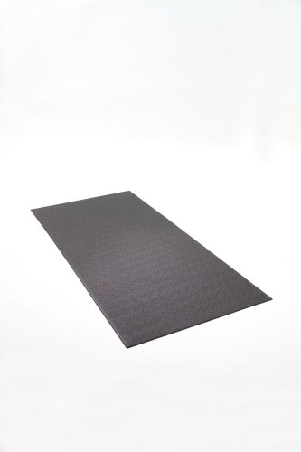 SuperMats Heavy Duty Equipment Mat 11GS Made in U.S.A. for Large Treadmills Ellipticals Rowers Rowing Machines Recumbent Bikes and Exercise Equipment (3-Feet x 6.5-Feet) (36 in x 78 in) (91.44 cm x 198.12 cm) , Black