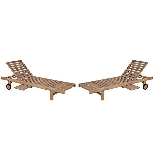 MP Bain de Soleil – ligstoel teakhout massief 200 cm hoge kwaliteit