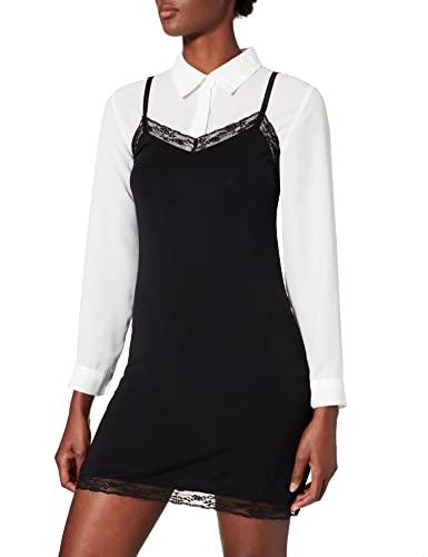 KARL LAGERFELD Damska sukienka z koronką, czarny, L