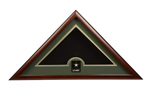 Allied Frame US Go Army Interment Amerikanische Beerdigungsflagge Vitrine mit offiziellem Go Army Medaillon