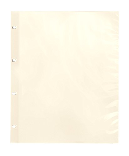 Exposures Oversize Album Pages Sheet Protectors Ivory 4 Ring