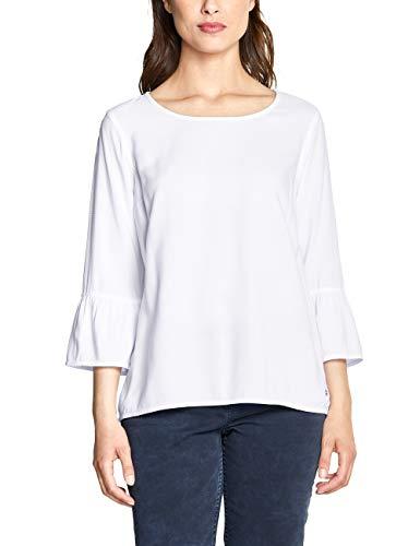 CECIL Damen 341472 Bluse per pack Weiß (White 10000), Large (Herstellergröße:L)