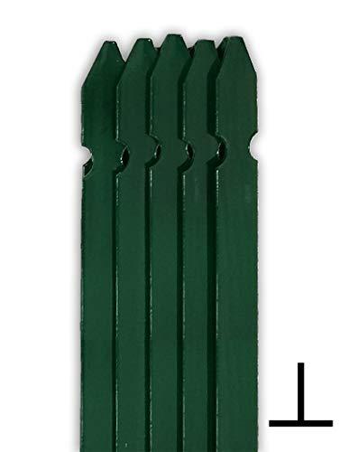 nextradeitalia 10PZ PALETTO A T Sezione MM 30X30X3 Altezza 200 CM PLASTIFICATO Verde per RECINZIONI