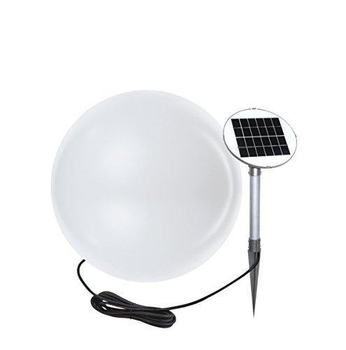 8 seasons design   Garten LED Solar Kugelleuchte Shining Globe (Ø 40 cm, warmweiß, Solarmodul, IP44, witterungsfest, Solarleuchte Kugel Outdoor) weiß