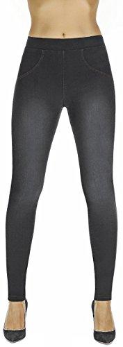 Firstclass Trendstore Shapeleggings in Jeans-Optik Gr. S-XXL, formend modellierend schlankmachend (Maddie schwarz M)