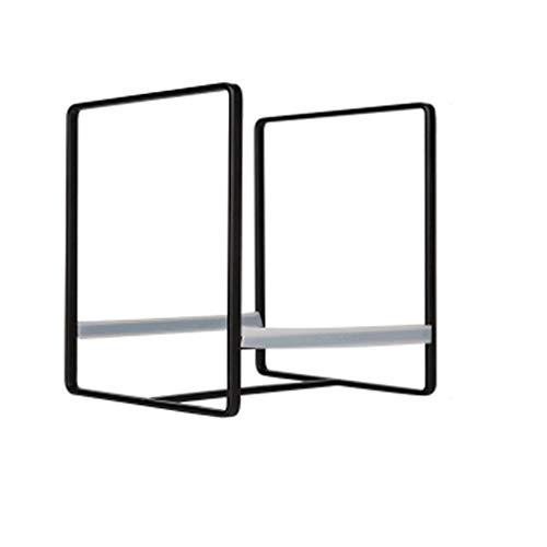 Qiutianchen Einfache schmiedeeiserne Teller Rack Teller Shelf Küche Lagergestell Home Teller Drain Rack Küchelregal (Color : Black, Size : 14cm)