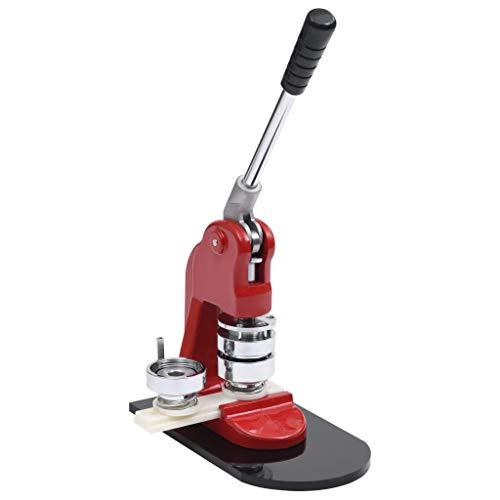 vidaXL Máquina de Chapas con Cortador Circular Perforadoras para Hacer Pin Insignias Cintas Porta Llaves Espejo Juego de Troqueles 44 mm