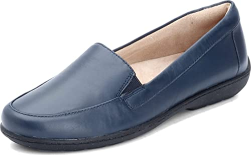 SOUL Naturalizer Women's Kacy Loafer Flat, Navy Leather, 11