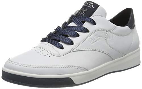 ara Damen ROM Sneaker, Weiss,BLAU 05), 39 EU