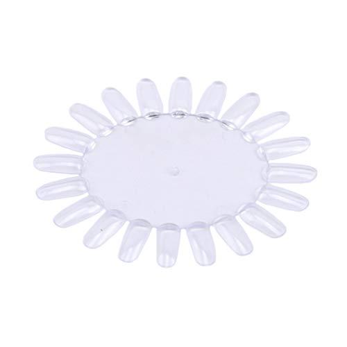 LWANFEI 10 Stücke Nagel Farbe Karte Farbkarte Oval DIY Make-Up Nail Art Praxis Tipps Chart Palette Art Tools Für 20 Farbkarte, Transparente Farbe