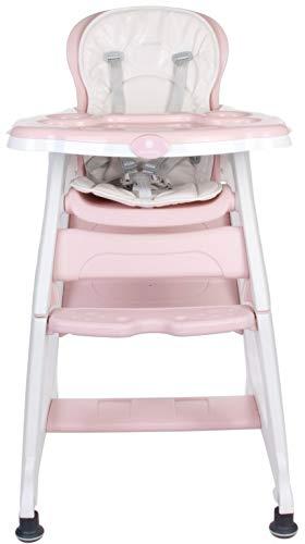 Chaise Haute pour Bébé Multifonctionnel 2 en 1 Rose