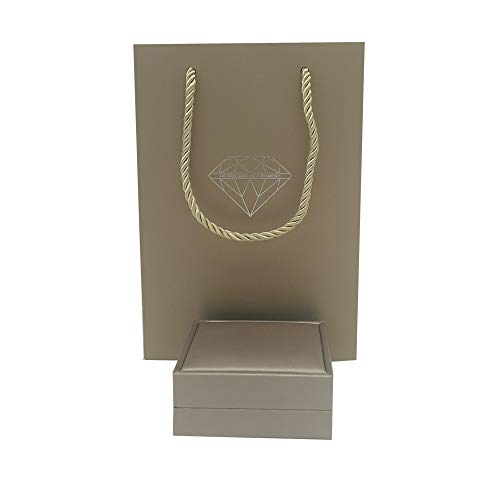HPiano Collar Caja de presentación de Joyas de Cuero de PU, Collar, Pulsera, Caja del Organizador del escaparate de la joyería portátil para Mujeres Niñas con Bolsa de Regalo