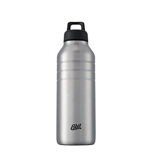 Esbit Trinkflasche Majoris | Edelstahl | BPA-Frei | Schwarz, Silber & mehr | 1L & mehr | Schule, Wasser, Fahrrad, Sport