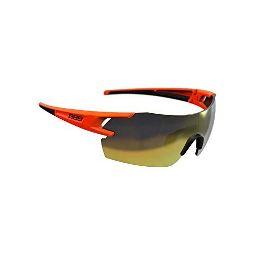 BBB Cycling Fahrradsonnenbrillen, Fullview Sportbrillen Mit Wechselgläsern, BSG-53, Matt Orange