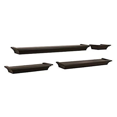 Kiera Grace Classic Multi Length Shelves, Espresso, Set of 4