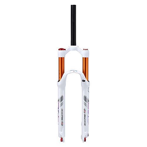 WYJW Horquilla de suspensión neumática MTB de 26/27,5/29 de Recorrido, 120 m, Bloqueo Manual de 1-1/8 QR Recto de 9 mm, Horquillas Delanteras ultraligeras para Bicicleta de montañ