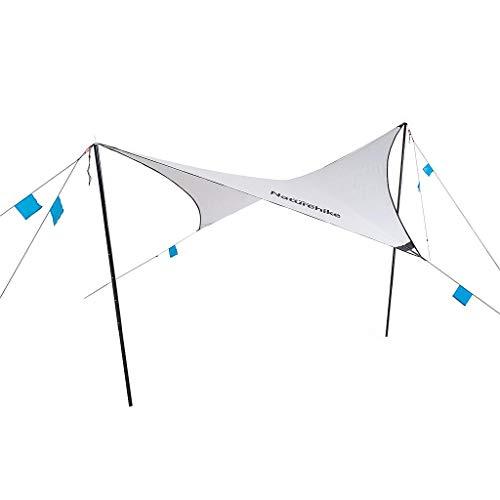 Naturehike(ネイチャーハイク) キャンプ 天幕 タープ 防雨 PU1500+ 日焼け止 シェルター シェード タープ アウトドア 軽量 日除け タープ テント 超軽量 (本天幕ポール含まない)