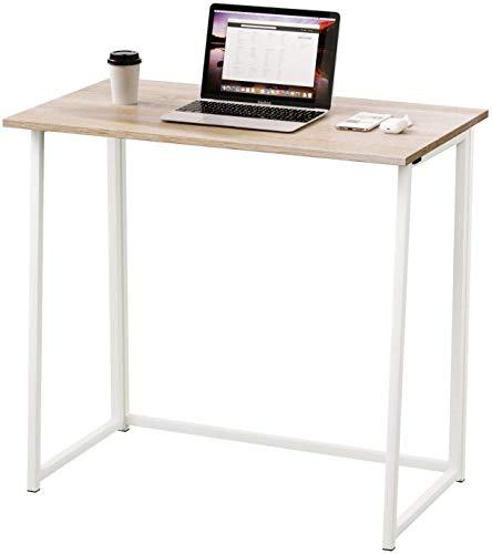 Dripex Faltbar Tisch Schreibtisch Computertisch für Homeoffice Arbeitszimmer Klappbar PC Tisch (Oak)