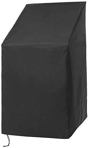 Outdoor Garden Stacking Chair Cover,Heavy Duty Polyester Waterproof/Windproof/Anti-UV Breathable Pation Chair Cover