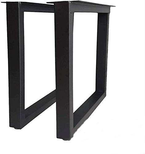KISNAD Patas de gabinete Muebles de pies Moda de 1 par de Piezas cuadradas Simples Patas de Metal Ajustable Patas de Muebles de Metal DIY Barra de Banco Muebles de Oficina Pies
