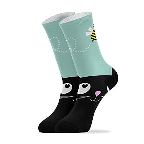 Calcetines, Abeja Linda, Calcetines de Compresión Sport Athletic Calcetines de Tripulación Larga Para Hombres Mujeres 11.8 Pulgadas (30 Cm)