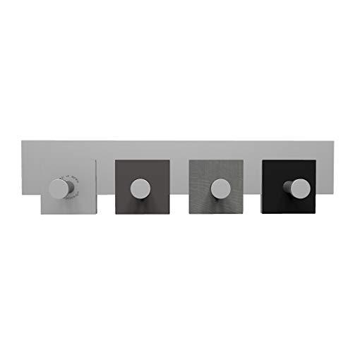 CalleaDesign - Appendiabiti da Parete 20 radica Grigia - Collezione Stripes