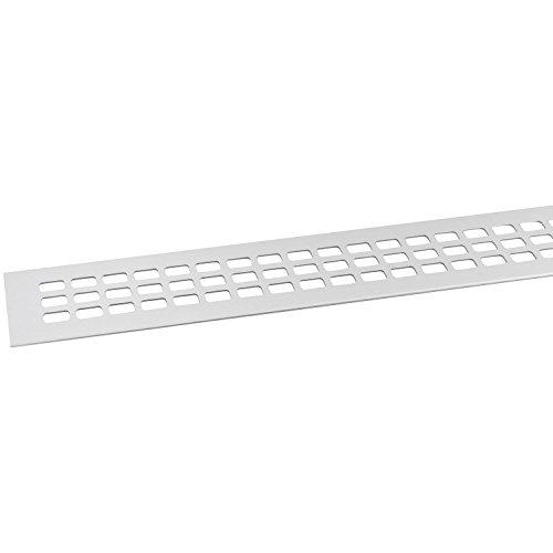 SECOTEC Lüftungsgitter 60 x 800 mm | Alu | Oberfläche: natur eloxiert | 1 Stück