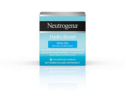 Neutrogena Hydro Boost Aqua Gel, Feuchtigkeitsgel mit Hyaluronsäure Komplex für 24H intensive Feuchtigkeit (1 x 50 ml)