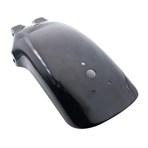Aleta de Barro de Motocicleta Motorcycle Trasero Fender Mudguard Fit para H-On-Da Shadow VTX 1300 1800 (Color : Negro)