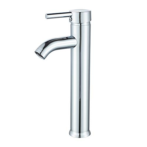 Bathroom Vessel Sink Faucet Modern Basin Mixer Tap Chrome Tall body Single Handle One Hole Lavatory Faucet