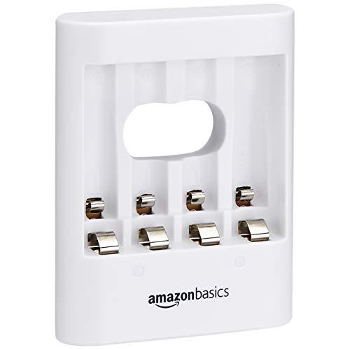 Amazon Basics - Cargador de pilas USB, color blanco