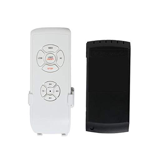 Andifany Kit de Control Remoto para Ventilador de Techo, Control Remoto Universal de Tama?O Peque?O para Ventiladores de Techo, Control InaláMbrico de Velocidad, Luz y TemporizacióN