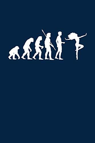 Evolution Tänzerin: Notizbuch / Notizheft für Tanzen Tänzer Frau Tanz A5 (6x9in) dotted Punktraster